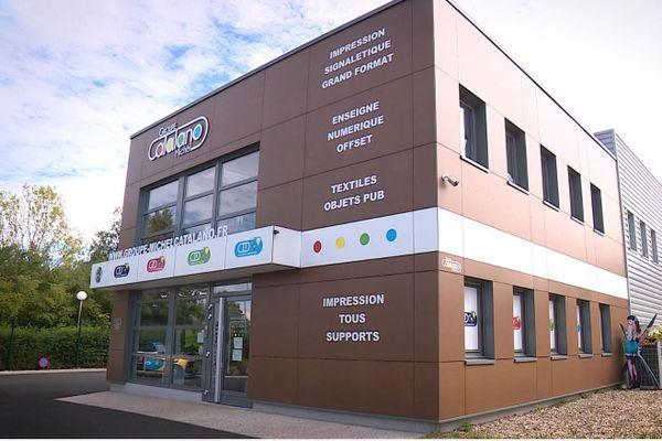 L'imprimerie de Michel Catalano, située à Dammartin-en-Goële.