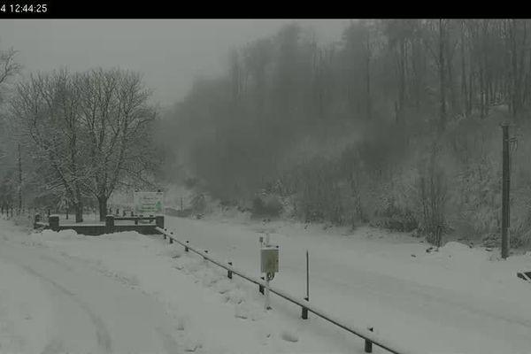 05/01/14 - Capture d'écran de la webcam du col de Vizzavona dimanche matin à 12h45.