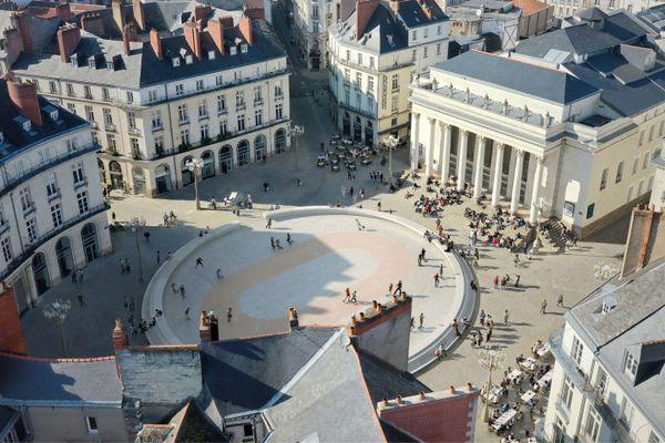 Playground 2021 du trio nantais Titan sur la place Graslin à Nantes