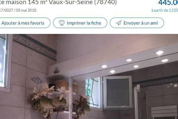 Une annonce immobilière sur le site PAP.fr.