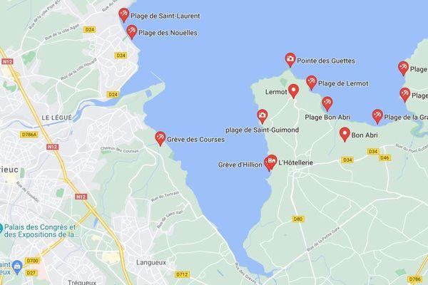 Les plages de la baie de Saint-Brieuc