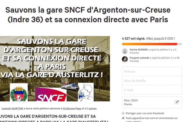 La pétition a reçu plus de 4500 signatures