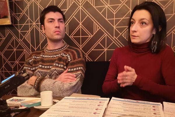 Anne-Sophie Olmos et Pierre-André Juven ont dévoilé les premières lignes du programme d'Eric Piolle sur le logement.