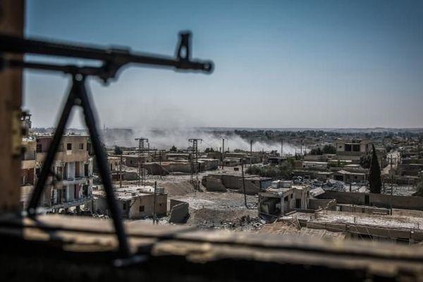 Une vue du quartier Al-Dariya à Raqqa (Syrie) le 24 juillet dernier