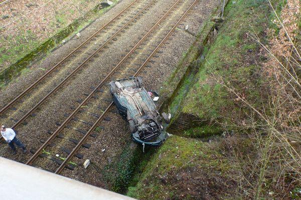 Une photo de l'accident postée par la police nationale sur sa page facebook.