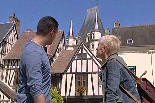 Christiane Lablancherie et le guide Nicolas Daniel