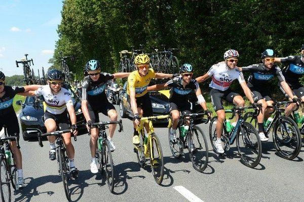 L'équipe SKY a démontré toute sa force lors de ce Tour 2012.