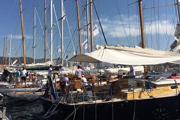 Les voiliers de la Corsica Classic 2017 dans le port Charles Ornano d'Ajaccio