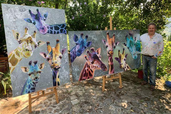 Les girafes de Jean-Marc Chamard seront exposées à Privas, le 2 septembre
