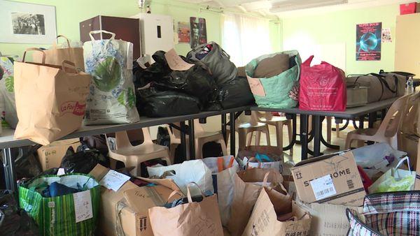 Les sacs de vêtements récoltés à Trith-Saint-Léger vont partir pour la Belgique dans les jours qui viennent.