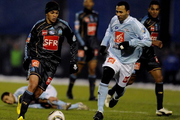 LE 10/01/10 lors des  32e de finales de la  Coupe de France Match le marseillais Ben Arfa, auteur de l'un des deux buts de l'OM au Stade Francis Rongieras de Périgueux.