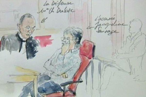 Jacqueline Sauvage et son avocat.