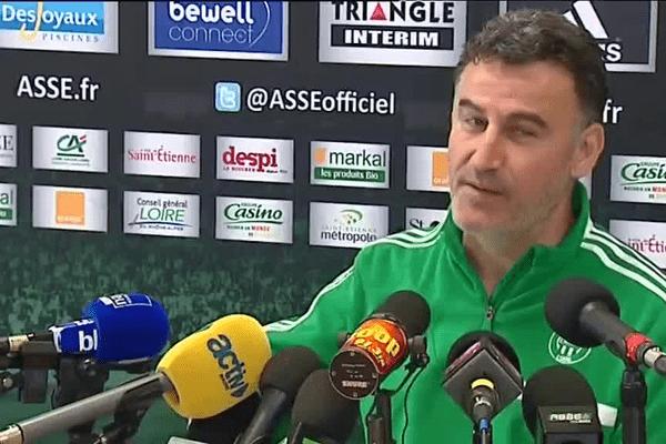 Alain Galtier, entraîneur de l'As-Saint-Etienne