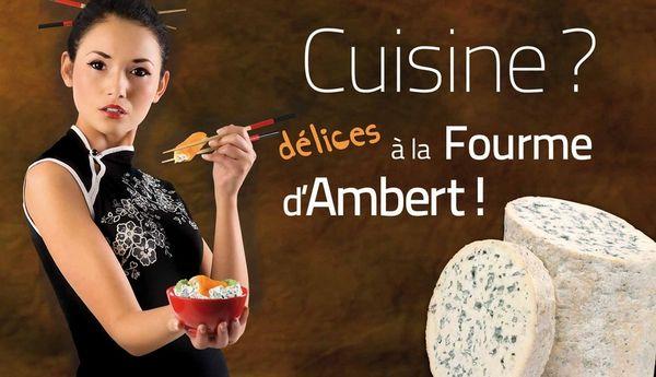 Le Syndicat Interprofessionnel de la Fourme d'Ambert a eu recours à des images prises sur le site fotolia.net voilà trois ans déjà. La polémique surgit au moment d'une campagne dans le métro parisien.