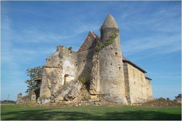 L'église de Mauriet à saint-Martin d'Armagnac (Gers)