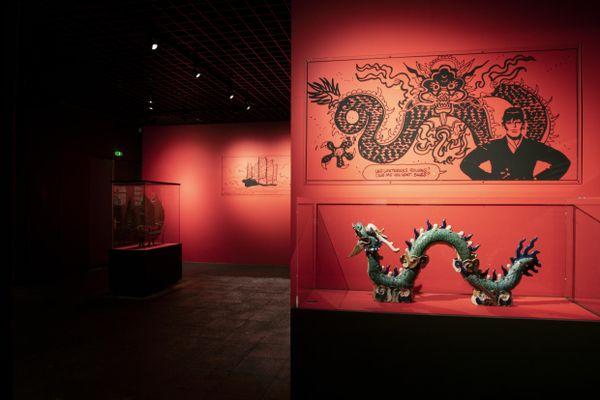 Au coeur de l'exposition Hugo Pratt, musée d'Aquitaine à Bordeaux.