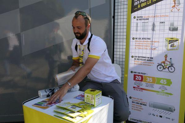 Anthony Montagne, coordinateur environnement sur le Tour de France