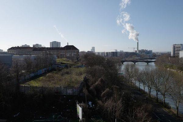 Les berges de Seine entre Saint-Ouen et l'Île-Saint-Denis qui vont accueillir le village olympique durant les JO-2024.