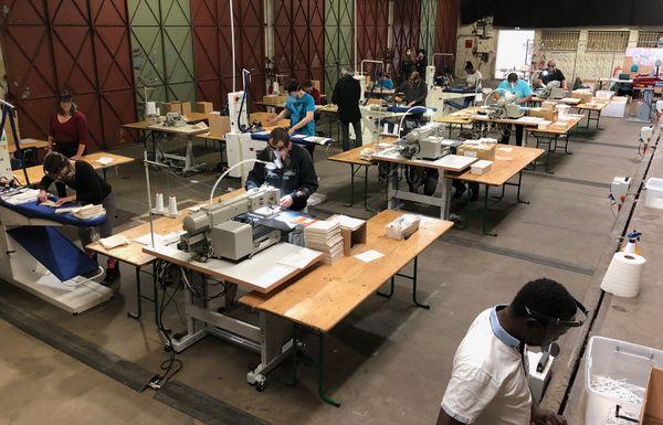 Les anciennes brasseries de Maxéville transformées en atelier de couture.