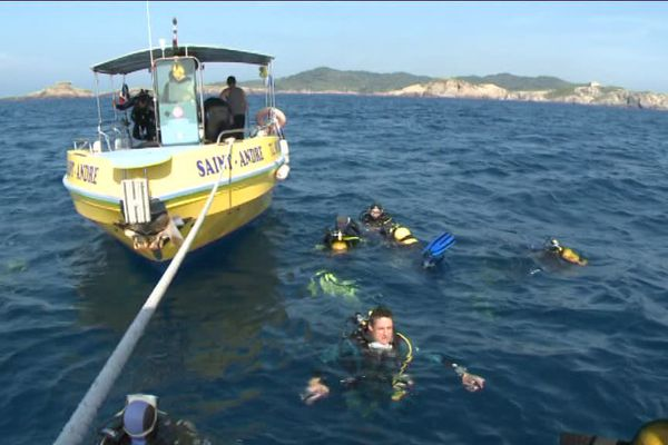 Les secours mobilisés pour tenter de retrouver le plongeur disparu