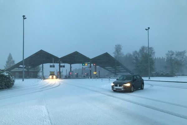 A Ussel, la neige commence à tenir