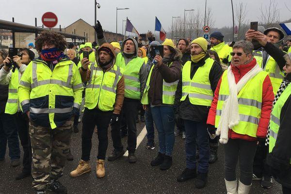 Marche des gilets jaunes à Forbach (Moselle), samedi 26 janvier 2019.