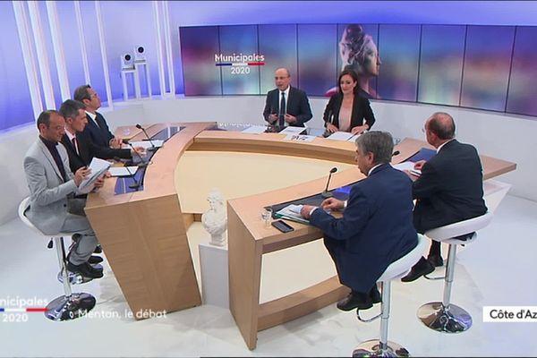 Débat à Menton pour les élections municipales 2020 sur France 3 Côte d'Azur