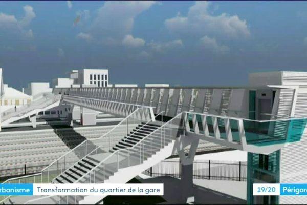 La future passerelle de la gare doit être aménagée pour 2021 et pour 3 M d'€uros