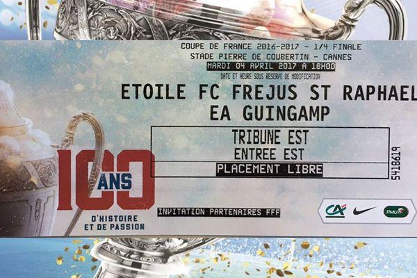 Gagnez vos places pour le 1/4 de finale Coupe de France Etoile FC Fréjus St Raphaël / EA Guingamp