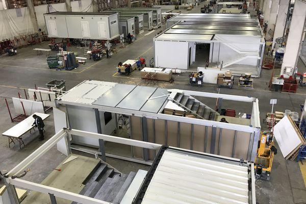 Des modules Cougnaud destinés à être des hôpitaux dans la lutte contre la covid-19