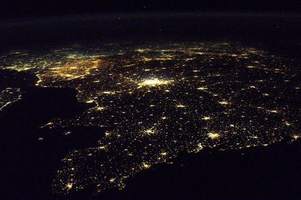 la Bretagne vu de l'espace