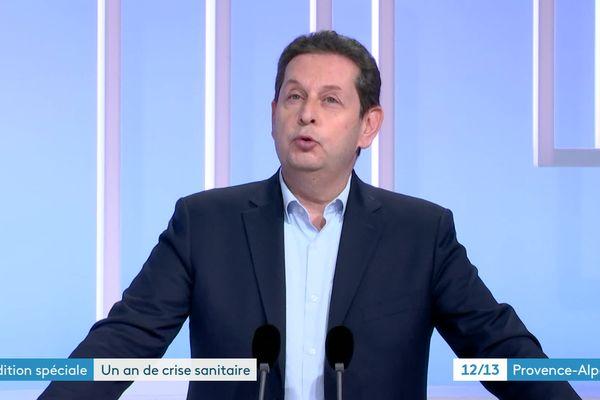Le président de l'UPE13 était l'invité du 12/13 de France 3 Provence-Alpes du mercredi 17 mars