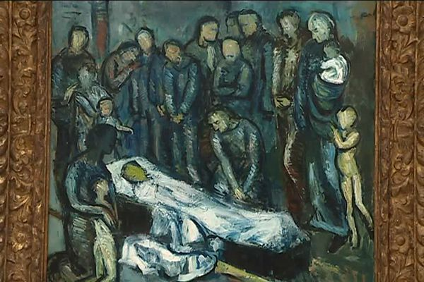 """Pablo Picasso """"Le Mort"""", 1901, collection privée."""