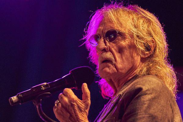 Christophe lors de son concert au festival Jazz au Phare à Saint-Clément-des-Baleines (17) en août 2019.