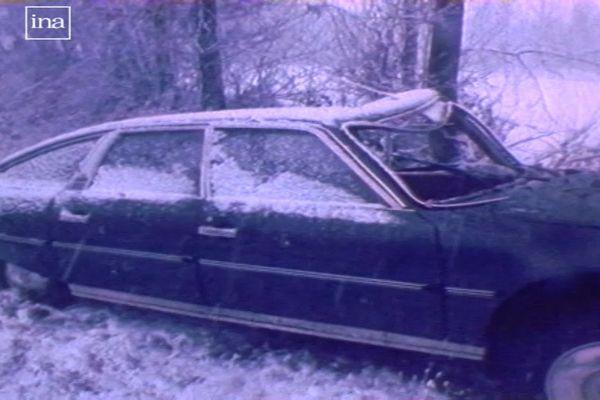 La voiture accidentée