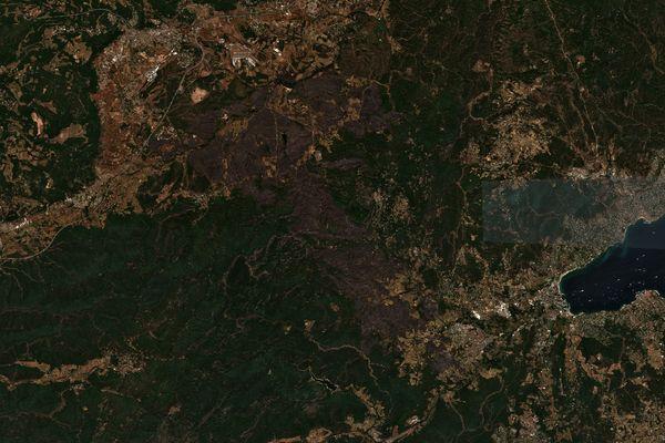 En une semaine, l'incendie a détruit des milliers d'hectares de forêts dans l'arrière-pays du Golfe de Saint-Tropez.