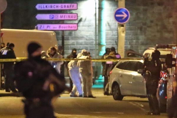 Jeudi 13 décembre 2018, rue du Lazaret à Strasbourg. La fin de la cavale de Cherif Chekatt.