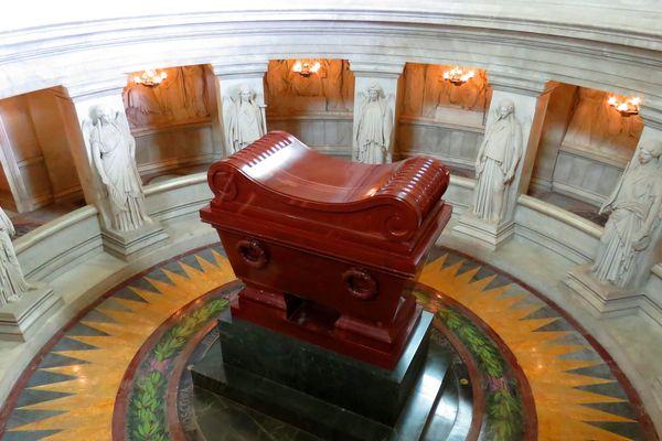 Le tombeau de Napoléon aux Invalides.