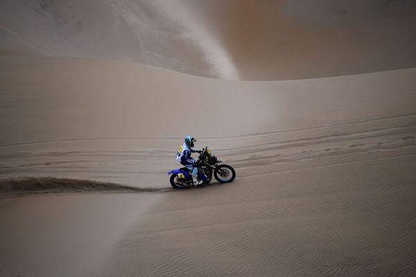 Le pilote nordiste Adrien Van Beveren, sur le Dakar 2019 au Pérou (photo du 13 janvier).