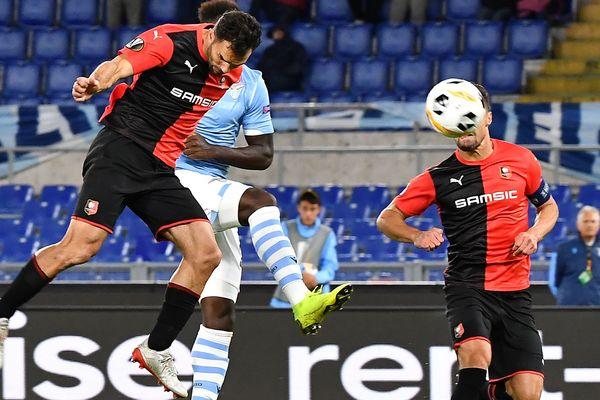 Le défenseur rennais Jéremy Morel marque le seul but de la rencontre face à la  Lazio Rome sur un coup franc de Grenier