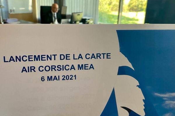 """La nouvelle carte d'abonnement """"Air Corsica Mea"""" a été présenté par la compagnie aérienne ce 6 mai, date de lancement."""