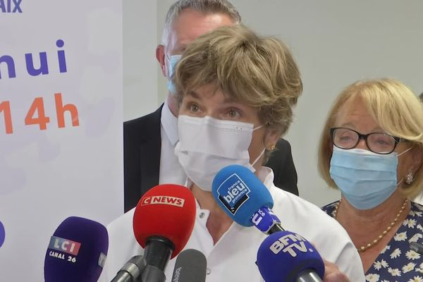 Laurence Maulin, à l'hôpital d'Aix-en-Provence