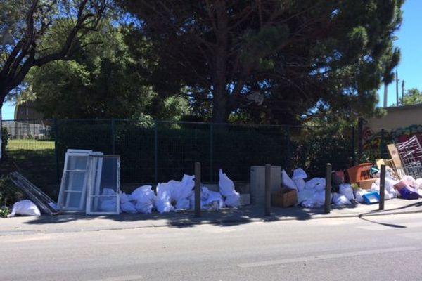 Déchetterie de la Capelette, dans le 10ème arrondissement de Marseille