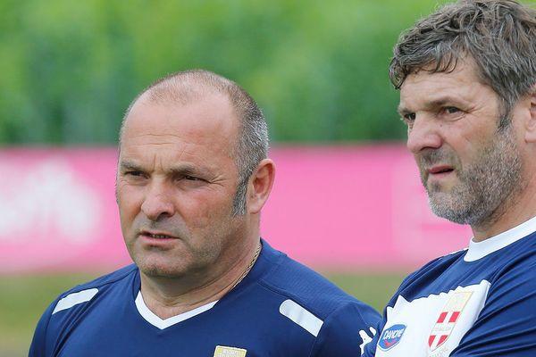 Pascal Dupraz et Fabrice Asensio pendant un entrainement de l'ETG