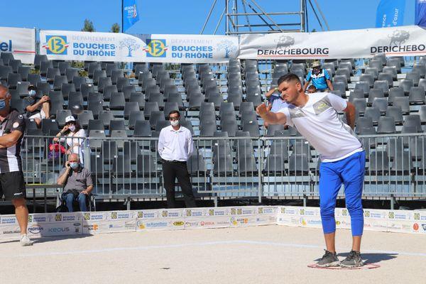Mickaël Bonetto est éliminé en quart de finale du Mondial La Marseillaise à pétanque 2020.