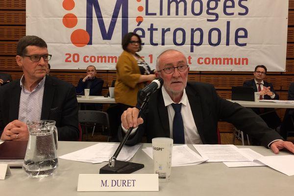 Jean-Paul Duret, nouveau président de Limoges Métropole, élu le 1er mars 2019
