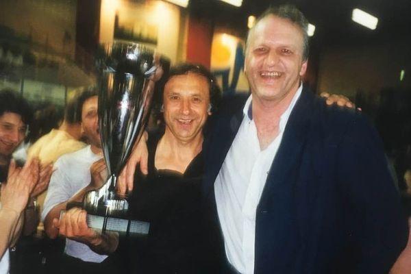 Jean-Michel Roche (à droite) a participé aux deux exploits du Stade Poitevin, en 1966 et 1999.