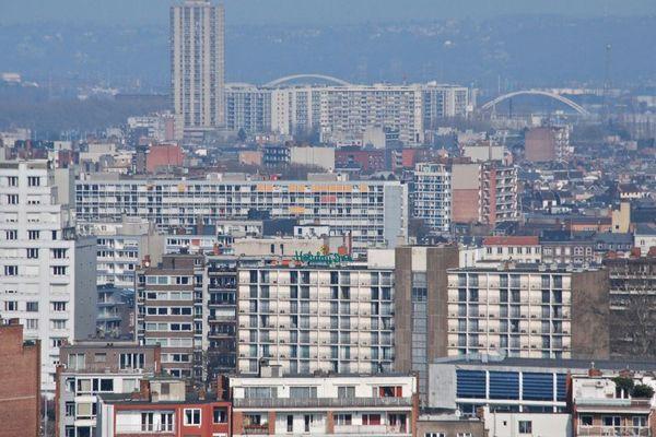 Vue du quartier de Droixhe, à Liège.