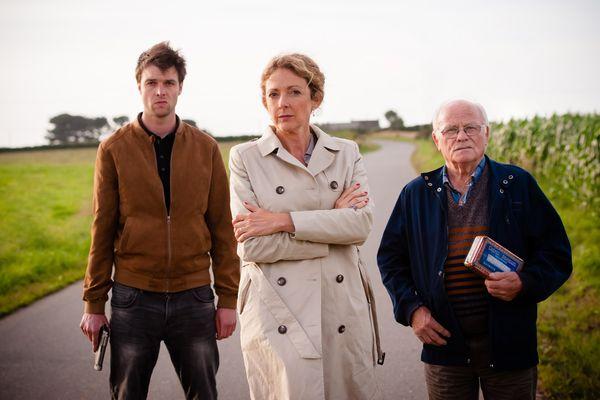 Les acteurs de Fin Ar Bed : Marie (Nolwenn Korbell) - Fañch (Roger Stéphan) - Klet (Kaou Langoët)