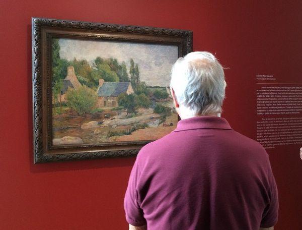 Tableau Les lavendières de Gauguin. Prêt du musée d'Orsay au musée de Pont-Aven jusqu'à fin septembre